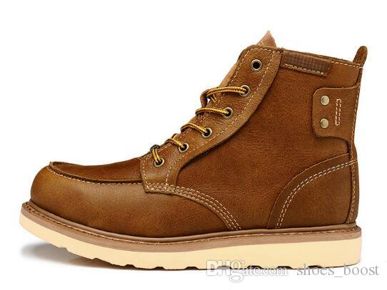 880740437c381 Compre 2016 Clásico De La Moda De Color Caqui Botas Para Hombre Zapatos De  Deporte De Trabajo Al Aire Libre A Prueba De Agua Retro Zapatillas De  Deporte ...