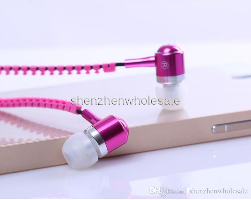 سستة ستيريو 3.5 ملليمتر جاك باس معدن سماعات سماعات سماعة في الأذن المعدنية مع مايكروفون وحجم يبردز البريدي لسامسونج S5 mp3