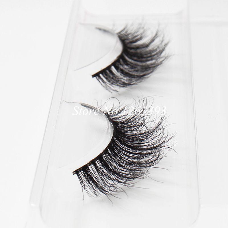 e6b9ed7a1e2 Natural Long Crisscross Messy Soft Mink False Eyelashes Pure ...