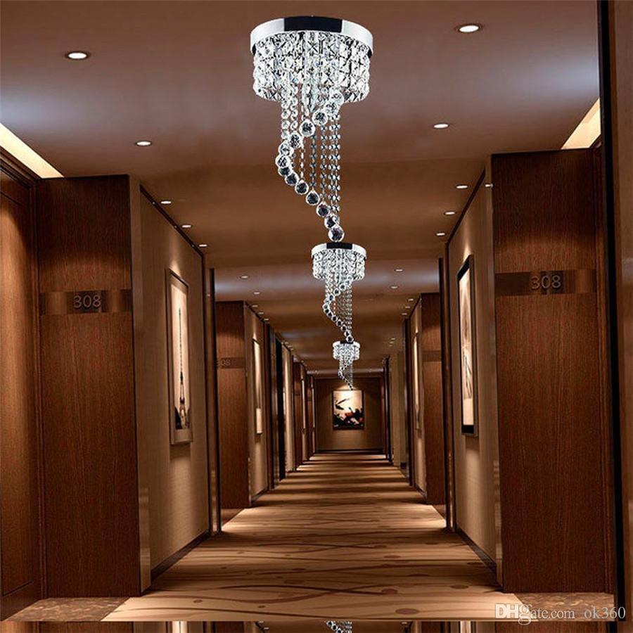 Moderne Kristall Deckenleuchte K9 LED Kronleuchter Pendelleuchte Flur Treppen Hotels Wohnzimmer Lichter Leuchte Beleuchtung 110 V-240 V