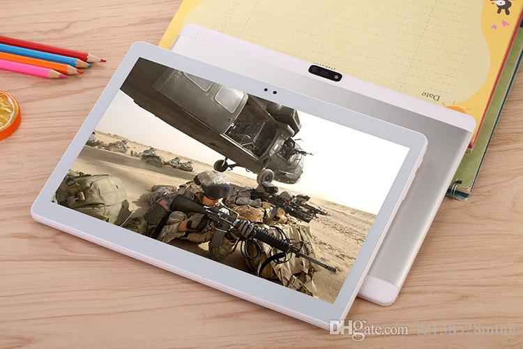 10.1 Inch Tablet Pc Android 7.1 Octa Core 32G ROM 4G RAM Tablets Pc 2560*1600 WIFI 3G Call GPS IPS Metal 10 9 8 7 silvery