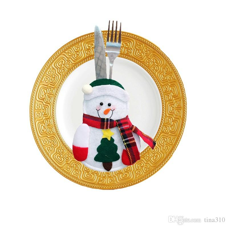 High Quality Tableware Decorations Tableware Bags Christmas Decorations Christmas Festive Party Supplies household dining table set IC582