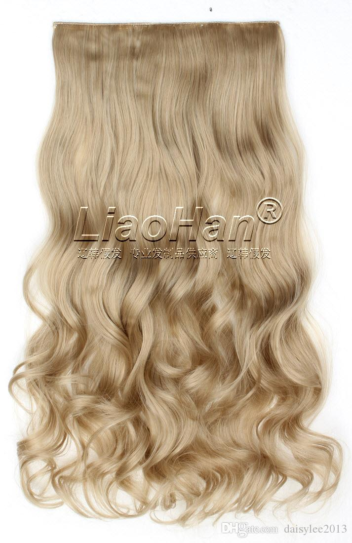 One Piece Medium Long Curly Clip In Hair Extensions Clip On