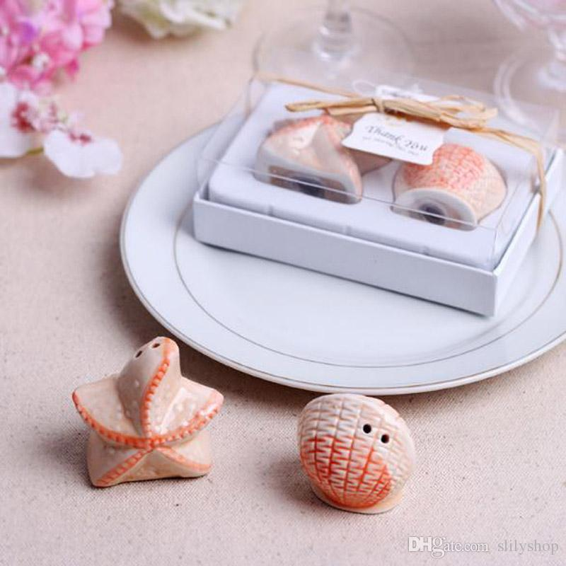 Ceramic Salt Bottle Tools Pepper Shaker Wedding Favors And Gifts For Guests Souvenirs Decoration Event & Party Supplies
