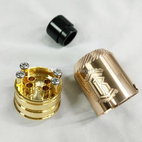 Newest Reload 24 RDA Rebuildable Dripper Atomizer Peek insulator Single or dual airflow settings Rload RDA Fit 510 Ecig Vape Mods DHL Free