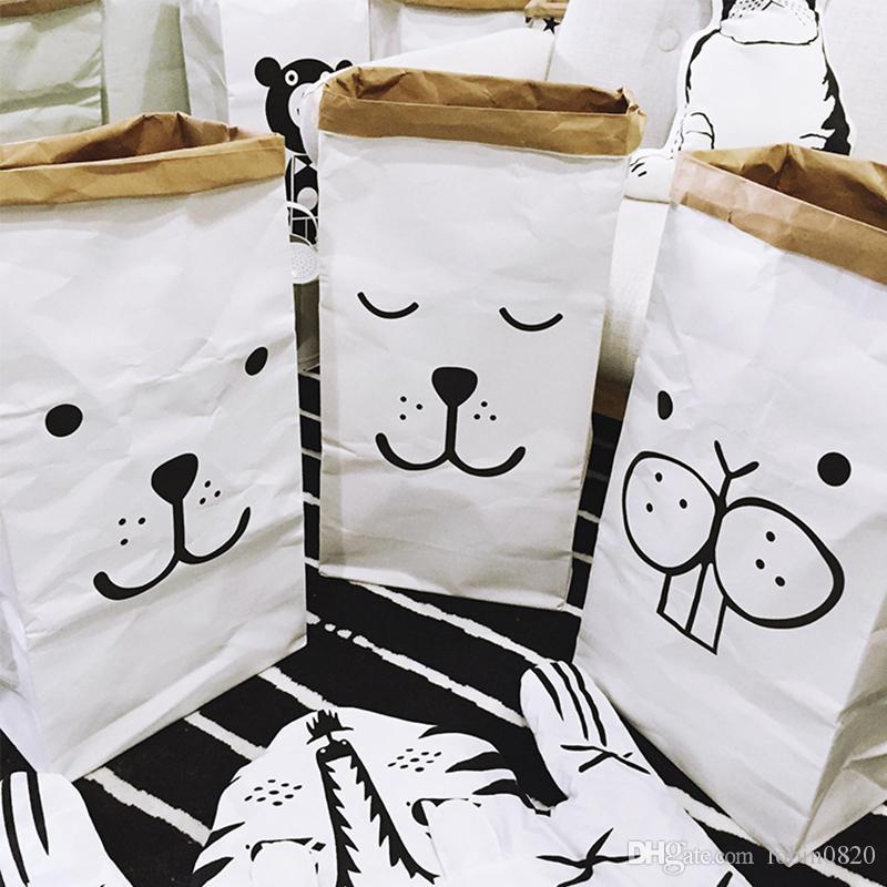 2018 Cartoon Storage Bags Storage Bin Children Toys Organizer Laundry Fun  Heavy Kraft Paper Kids Laundry Bag From Lobin0820, $10.39 | Dhgate.Com