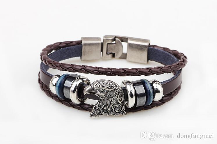 Bursts of beaded bracelet Eagle head on the deduction hand ornaments FB402 a Slap & Snap Bracelets