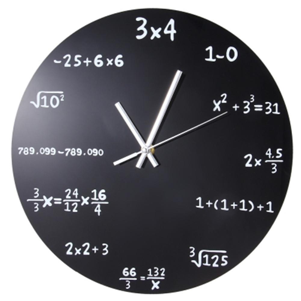 Worksheet Math Clock wall clock math formulas creative acrylic home decoration coated metal educational pendulum clocks for sale personalized wall