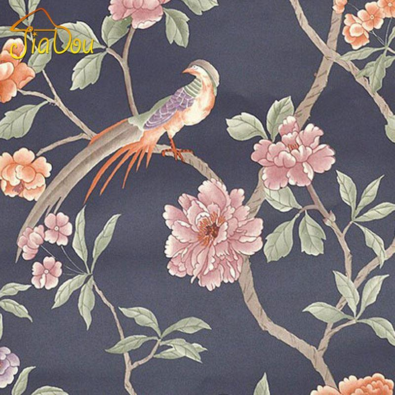 Bird Tree Flower Southeast Asia 3d Vinyl Wallpaper Papel De Parede Home  Decor Living Room Tv Sofa Background Wall Paper Wallpaper Borders Wallpaper  C From ...