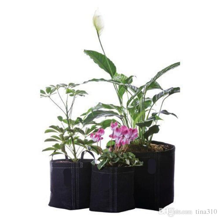Grow Bag Plants Fabric Pots Plant Pouch Root Container Aeration Flower Pot Bag Planters Pouch FA531