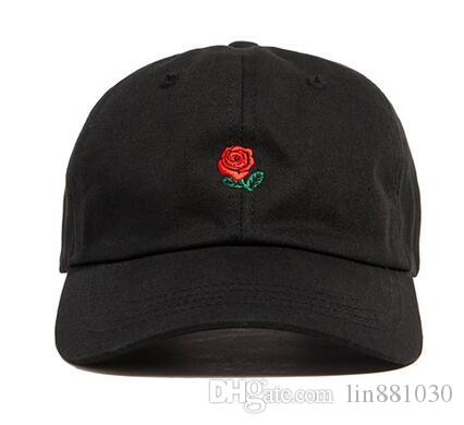 New Rose Dad Hat Drake Custom Sanpback Flower Rose Embroidery Curved Summer  Snapback Casquette De Baseball Caps Casual Hip Hop 6 Panel Hat Starter Cap  Big ... a28e036b66b