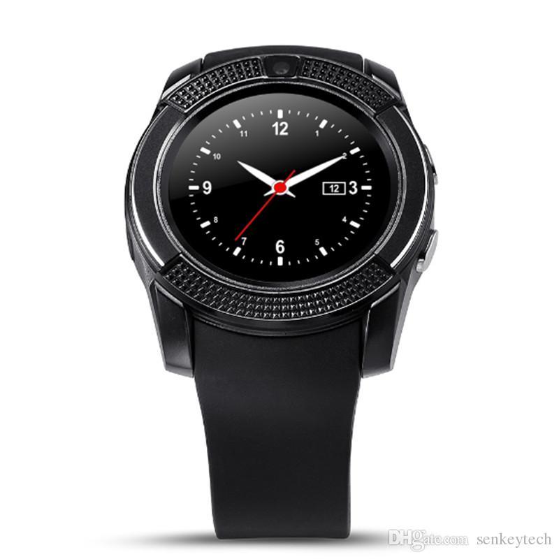Высокое качество V8 Bluetooth смарт-часы Поддержка SIM карт SD SMS MP3-плеер SmartWatch Переносные устройства VS GT08 DZ09 для Apple Android Phone