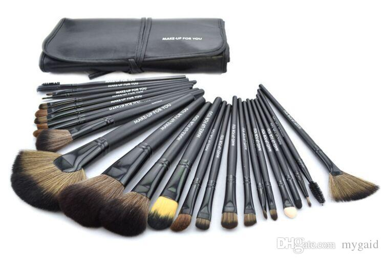 Кисти для макияжа 24 шт. / компл. 3 цвета составляют косметические кисти комплект тени для век туалетные красоты техника макияж кисти с PU мешок