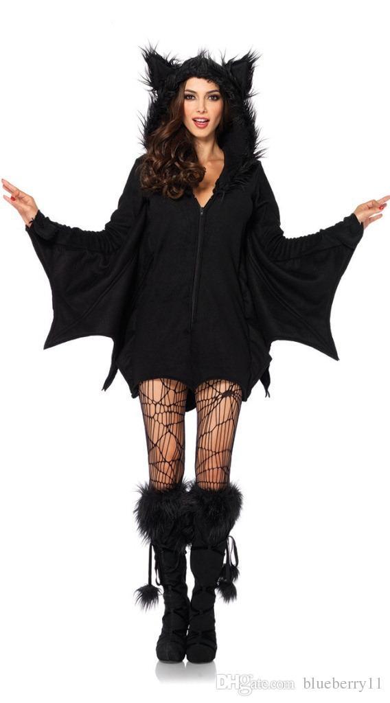 Moda Diablo traje de Halloween Cosplay disfraces vestidos murciélagos ropa Scary negro Fanny Dress Up fiesta de disfraces para mujeres