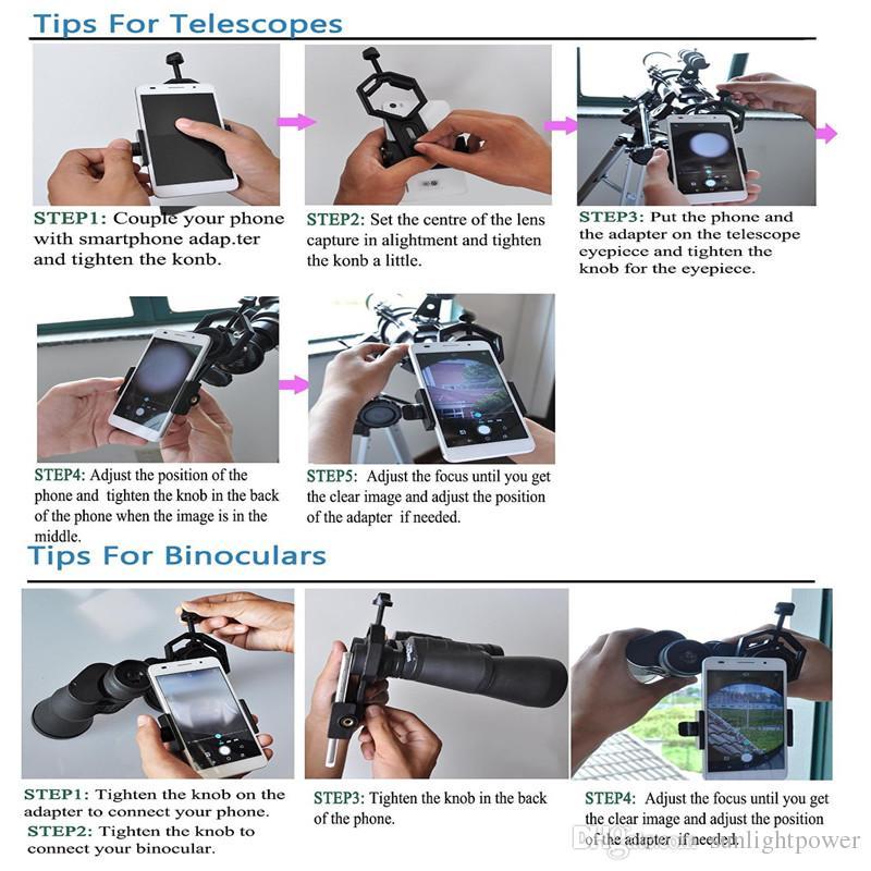 Adattatore universale cellulare - Compatibile con Cannocchiale monoculare binoculare Adattatore telescopio e microscopio spedizione gratuita