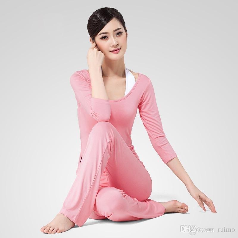 22e5eba0d14e8 2019 The High End Yoga Sports Women Exercise Suit Sleeve Seven Female Modal Yoga  Clothes Three Piece Suit Fitness From Ruimo, $13.16 | DHgate.Com