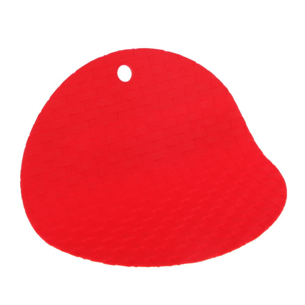 Round Non-Slip Heat Resistant Mat Coaster Cushion Placemat Pot Holder Silicone Table Mat Kitchen Accessories