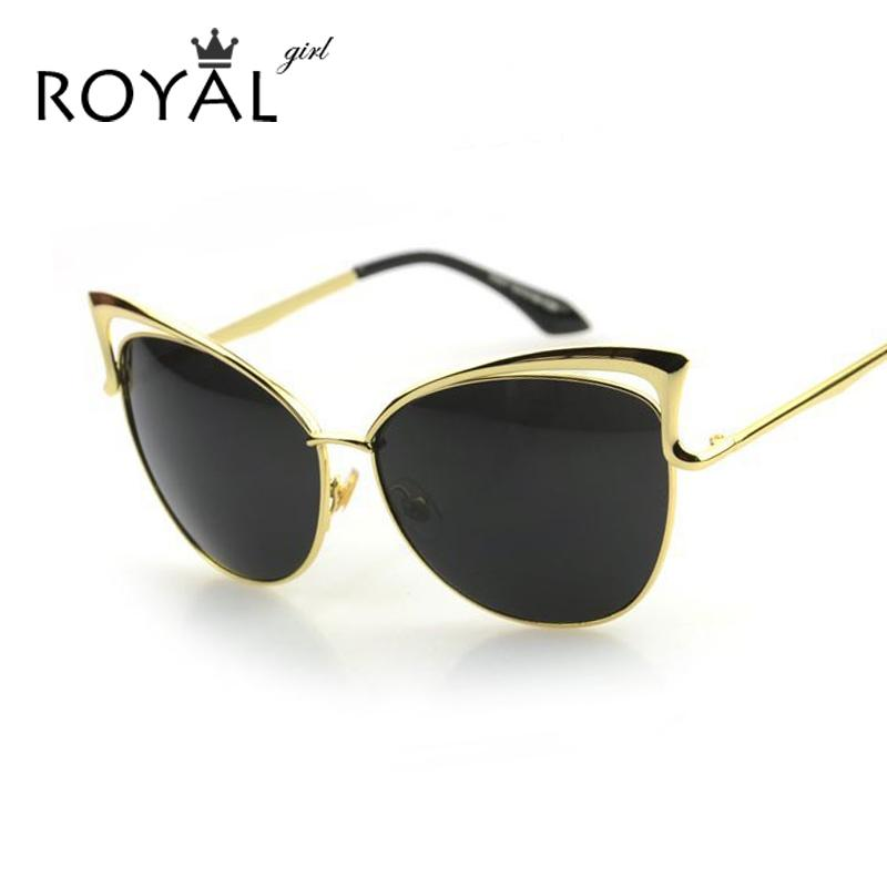 fbc2ad17f7 Compre Al Por Mayor Royal Gril Alta Angular Mujeres Cat Eye Sunglasses  Marco Metálico Vintage Gafas De Sol Mujeres Diseñador De La Marca Gafas  Ss278 A ...