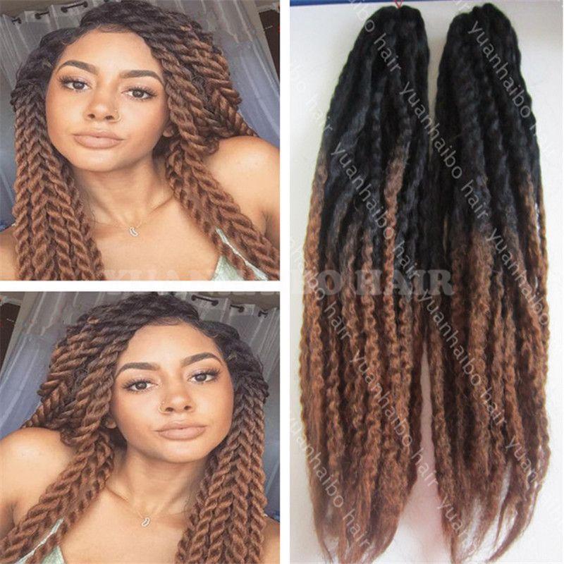 Factory Cheap 20inch Black Brown Marley Braid Black Women Kinky
