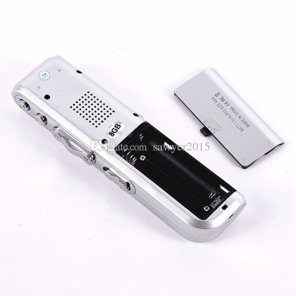 MINI VOR Activated Audio Voice Recorder 4GB 8GB Rechargeable Voice digital Dictaphone with MP3 Player WAV Recording Pen