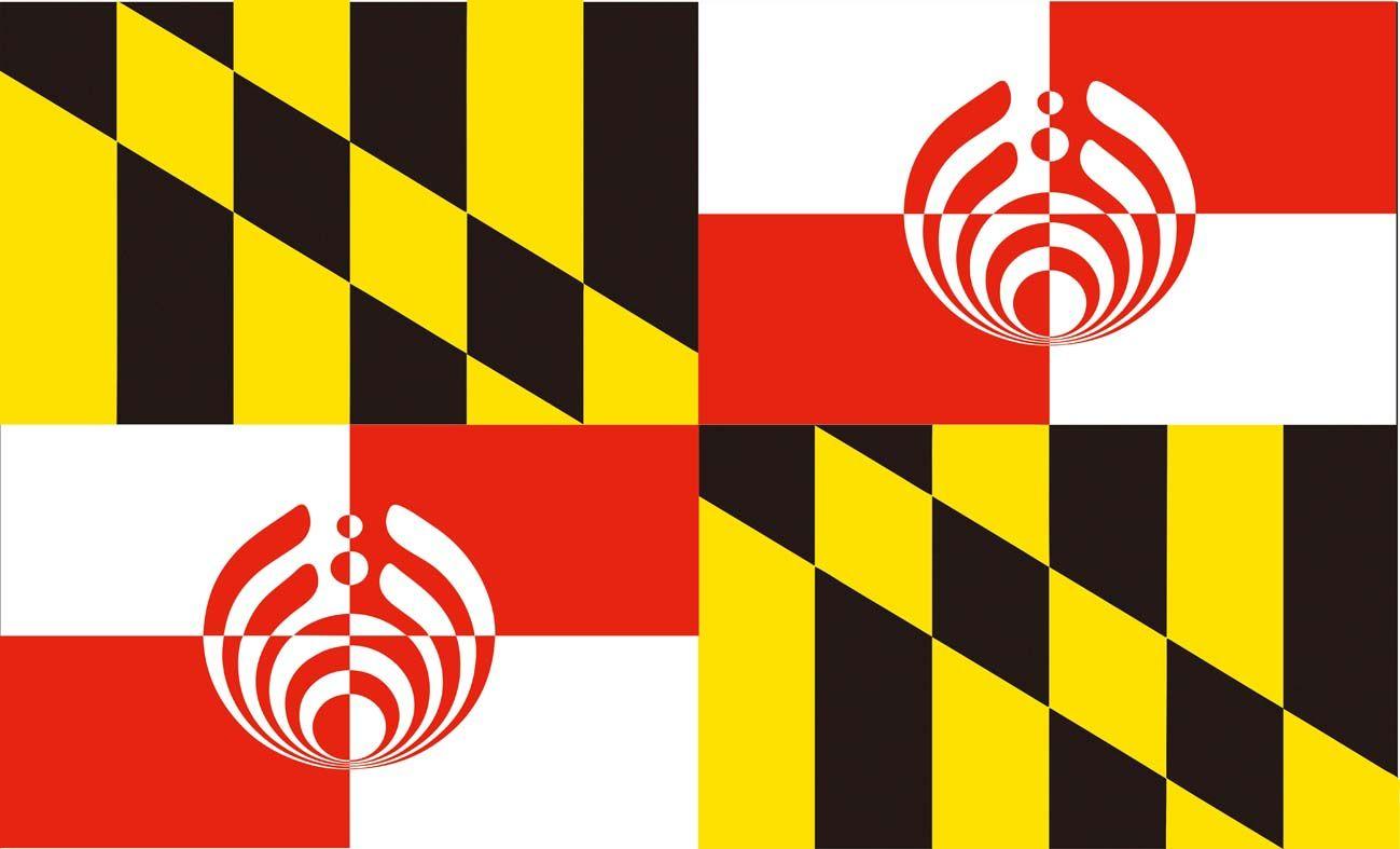 Maryland-Bassnectar-Flagge 3ft durch 5ft 100D Polyester-dekorative Flaggen und Fahnen