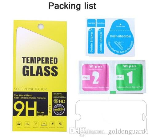 For Iphone 7 Plus Tempered Glass Film Guard Screen Protector For iPhone 6 6S SE 5S 5C Samsung Galaxy S7 S6 Edge LG G6 0.26mm 2.5D MOQ: