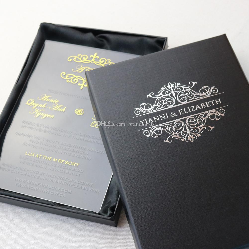 Personalized Acrylic Invitation Wedding Business Invitation Card ...