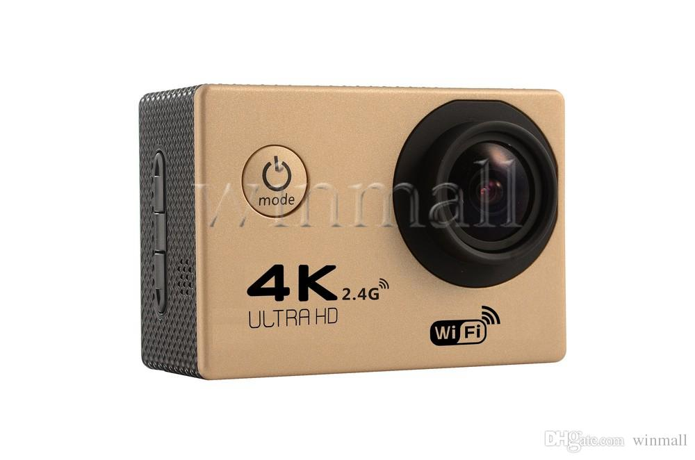 Cheapest 4K Action Camera F60R WIFI 2.4G Remote Control Waterproof Video Camera 16MP/12MP 4K 30FPS Diving Recorder