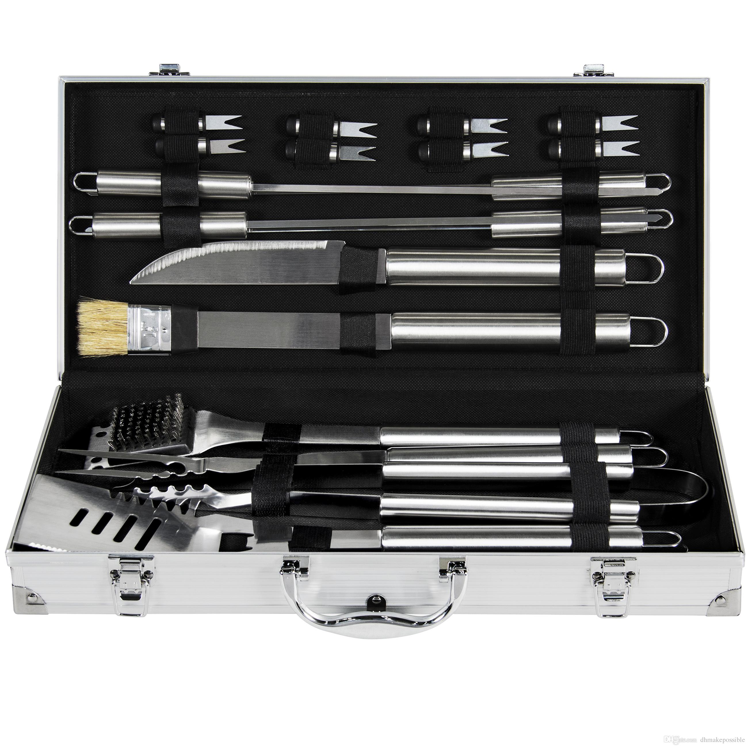 BCP Stainless Steel BBQ Grill Tool Set With Aluminum Storage Case Kinds Of  Kitchen Knives Kitchen Aid Knives From Dhmakepossible, $29.83| DHgate.Com
