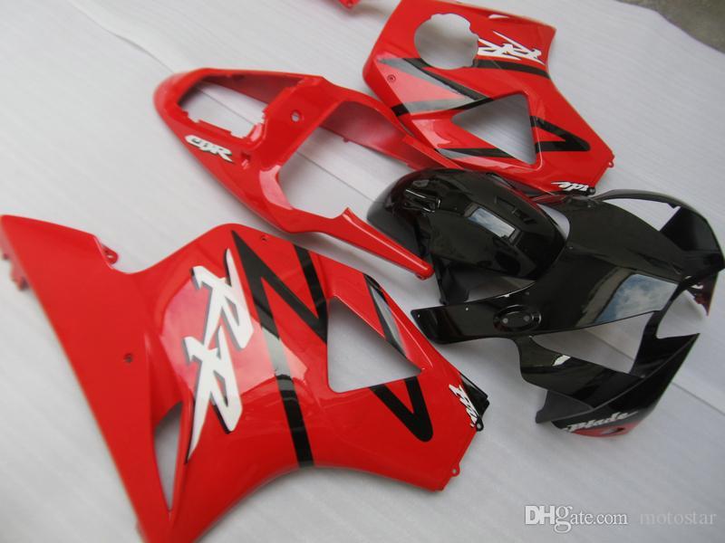 Aftermarket fairing kit for Honda CBR900RR 02 03 red black motorcycle fairings set CBR 954RR 2002 2003 OT05