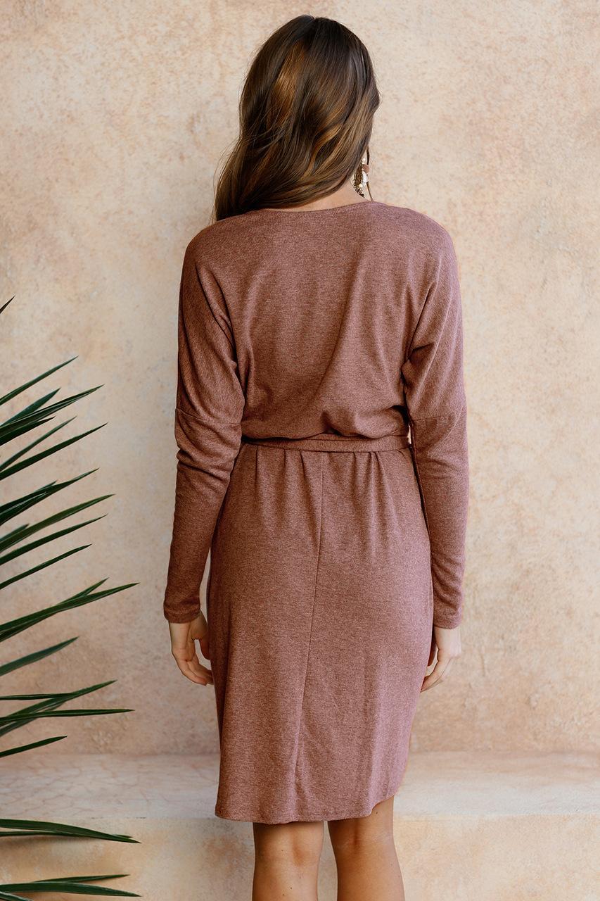 Women's Long Sleeve O-Neck Asymmetrical Hemline Casual Clubbing Party Dresses Vestidos Size: S M L XL DY17322