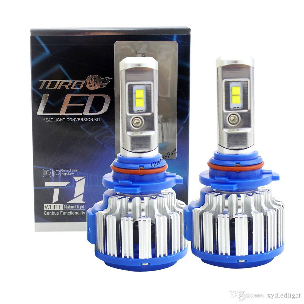 T1 자동차 헤드 라이트 전구 H7 H1 H3 H8 / H9 / H11 HB3 / 9005 HB4 / 9006 880 Canbus 12V 오류 무료 슈퍼 밝은 자동 조명 변환 키트