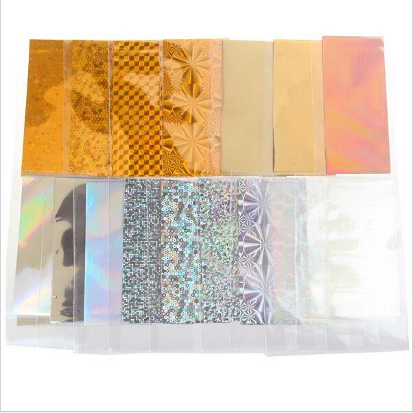 48 Blatt 35 cm * 4 cm Mix Farbe Transferfolie Nail art Star Design Aufkleber Aufkleber Für Polnische Pflege DIY Universum Nail art Decoretion