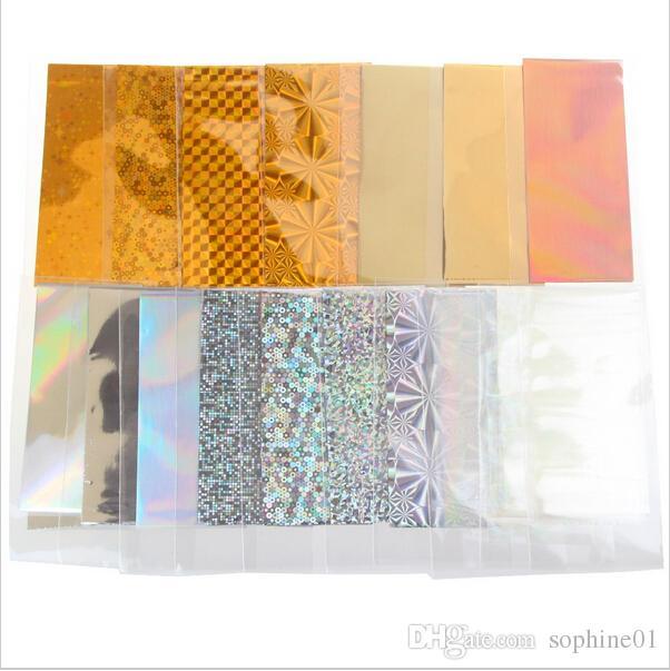 48 Folha 35 cm * 4 cm Folha De Transferência De Cor Da Cor Da Arte Do Prego Projeto Da Estrela Adesivo Decalque Para Cuidados Polonês DIY Universo Nail Art Decoretion