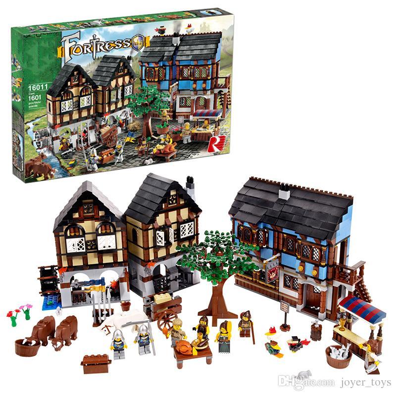 Lepin 16011 Medieval Market Village Building Bricks Blocks Toys For ...