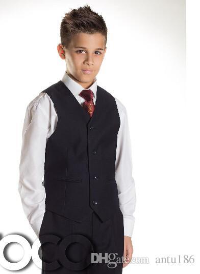 Chegada nova menino ternos formais ocasiões terno formal bonito terno de cavalheiro 3 peças de jaqueta + calça + colete custom made