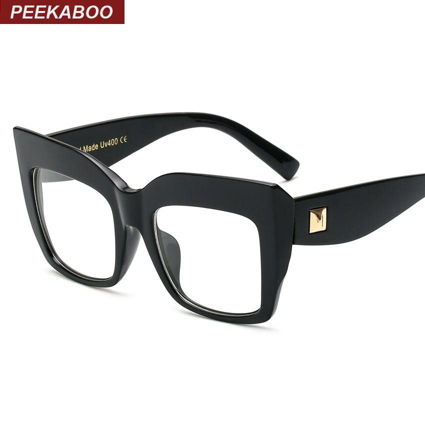 2019 wholesale peekaboo new 2016 brand large black square frame