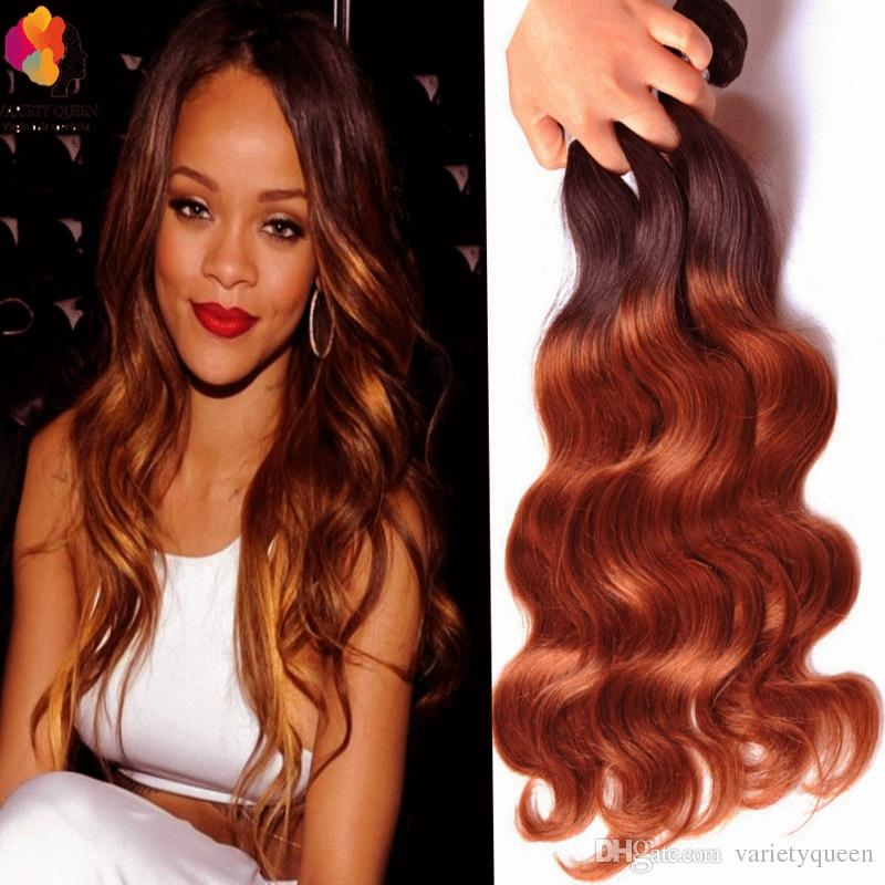 New 8a Ombre Hair Extensions 1b30 Blonde Ombre Virgin Human Hair