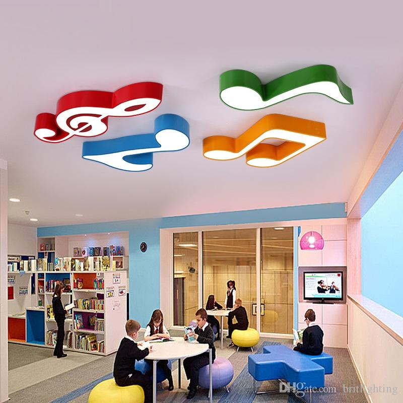 Classroom Design And Delivery ~ Piano music classroom led ceiling lamp notes
