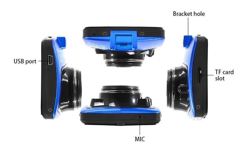 "1080P 2.2""LCD Car DVR Camera IR Night Vision Video Tachograph G-sensor Parking Video Registrator Camera Recorder Retail packing boxes"