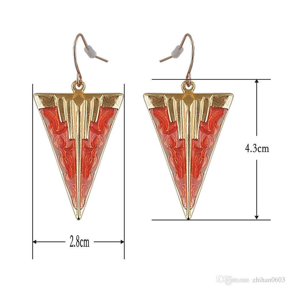 Nouveau 2017 une paire en gros Tendance mode vente chaude femmes forme géométrique vintage Boucles d'oreilles