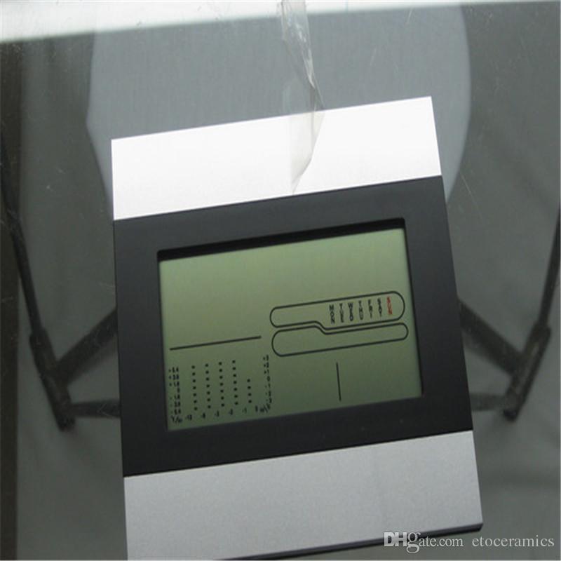 디지털 LCD 배터리 온도계 시간 알람 날씨 습도계 시계 홈 큰 화면 전자 습도 온도계 크리스마스 선물