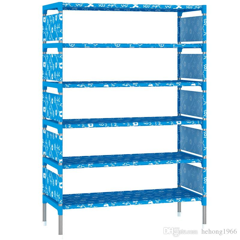 Shoe Cabinet Multi Pattern Non Woven Fabric Bedroom Large Capacity DIY Shoes Rack Sundries Storage Practical 21 9js KK