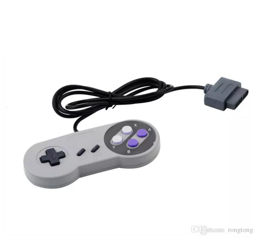10 tasti di gioco Gaming 16 bit Controller Gamepad Pad Joystick SFC Super Nintendo SNES System Console Control Pad spedizione veloce