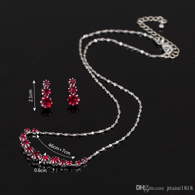 Moda Austria Orecchini di cristallo Collane Set di gioielli da sposa Regalo di Natale Abito Accessori da sposa Gioielli Gioielli da sposa