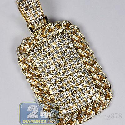 Wholesale mens iced out diamond dog tag id cuban frame pendant 14k wholesale mens iced out diamond dog tag id cuban frame pendant 14k yellow gold 281 ct pendants gold necklace for women from yyanming878 5227 dhgate aloadofball Choice Image
