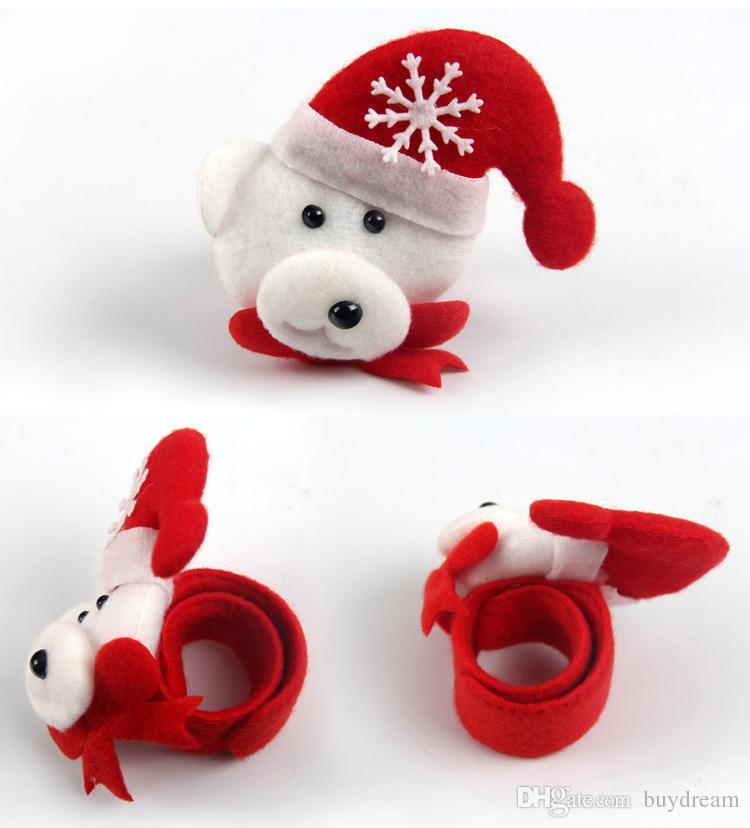 Yeni Yıl 2017 Sequin Clap Circle Noel Pat El Yüzüğü Chrismas Santa Slap Bilezik Hediyeleri Kişisel KIdları için