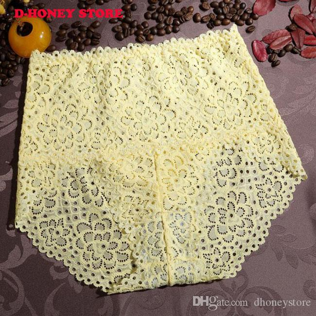 Women underwear briefs sexy women's Panties flower pattern lace seamless high waist women underwear panty wholesalers dhl shipping