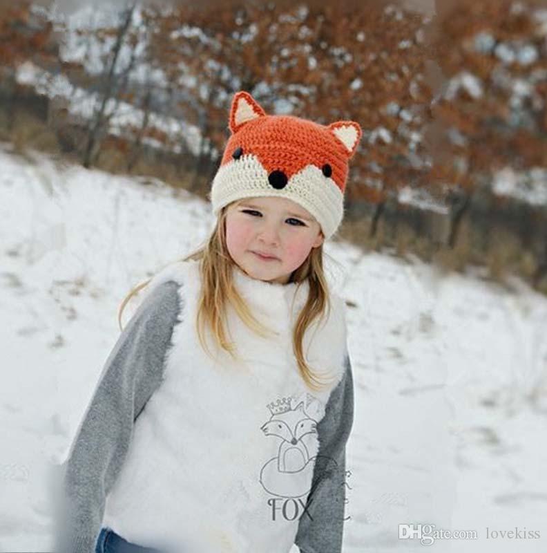 2017 новые дети вязание крючком вязать шляпу милый животных зимняя шапка детские