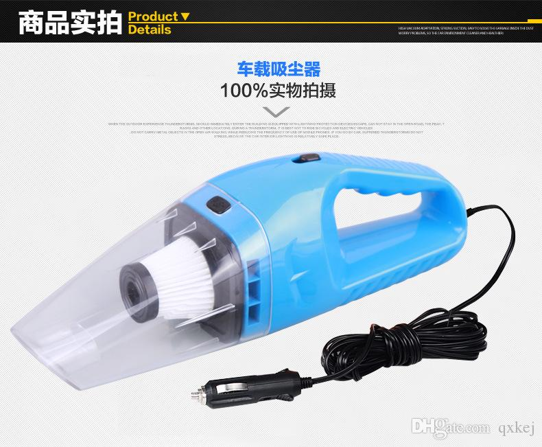 Auto Accessories Portable 5M 120W 12V mini Car Vacuum Cleaner Handheld Mini Super Suction Wet And Dry Dual Use Vaccum Cleaner Free